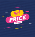 creative label for hot price sale vector image vector image