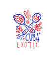 cuba island logo template original design exotic vector image vector image