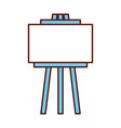 empty board tripod artistic tool vector image