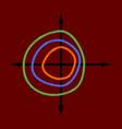 flat shading style icon chart thin circles vector image