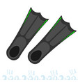 flippers for snorkeling rest on the sea vector image