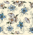 floral seamless pattern with chamomile and vector image vector image