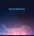 futuristic particle abstract technology background vector image