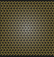 geometric seamless golden pattern vector image vector image