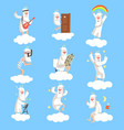 god character working days set vector image