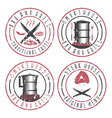 grunge set of BBQ steakhouse and smokehouse vector image vector image