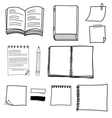 hand drawing stationary design set vector image vector image