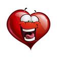 Heart Faces Happy Emoticons LOL vector image vector image