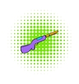 Hunting shotgun icon comics style vector image vector image