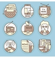 icons in modern linear style vector image
