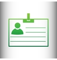 Id card sign vector image vector image