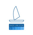 isolated boat outline yacht element can be vector image vector image