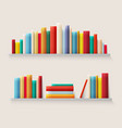 library bookshelf with books books spine in retro vector image