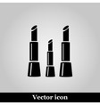 Lipstick icon on grey background vector image vector image