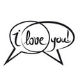 love chat sign vector image vector image