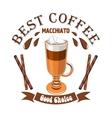 Macchiato coffee Cafe emblem vector image vector image