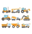 Machines for Construction Work Set vector image vector image