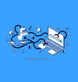 marketing automation 2020 isometric banner seo vector image vector image