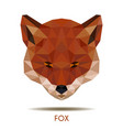 modern red fox in polygonal style logo element vector image