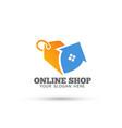 modern unique shop logo design vector image