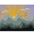 Mountains Nature vector image vector image