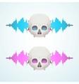 music breaks skull vector image vector image