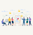 network and teamwork vector image