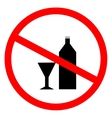 No alcohol sign in red ring vector image