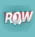 pow comic book pop art background vector image vector image