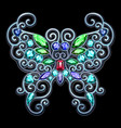 precious jewelry silver butterfly vector image
