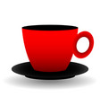 red and black cup vector image vector image