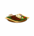 satay traditional food from indonesian vector image vector image