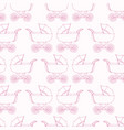 seamless pattern baby carriage for doughter baby vector image vector image