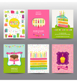 Set of Birthday Brochures and Cards vector image