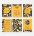 set of cards flyers brochures with mandala vector image vector image