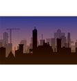 silhouette of town vector image vector image