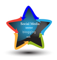 Social media and networking logo vector image