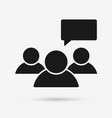 speaking group of people flat icon vector image vector image
