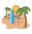 summer vacation relax cartoon vector image vector image