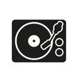 The turntable icon DJ and melody music player vector image vector image