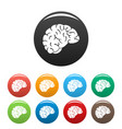 thinking brain icon simple style vector image vector image