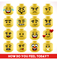 Toy Block Emoji Games Isometric vector image vector image