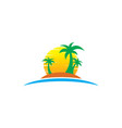 travel summer logo holiday tour island vector image vector image