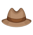 trilby icon cartoon style vector image vector image