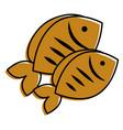 two fresh fish food healthy vector image