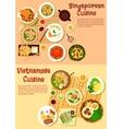 Vietnamese and singaporean cuisine flat icon