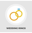 Wedding rings icon flat vector image vector image