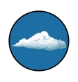 blue sky clouds with circle white background vector image