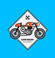 Vintage Motorbike Label vector image