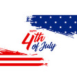 abstract 4th july american flag banner vector image vector image